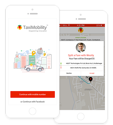 taxi mobile app development